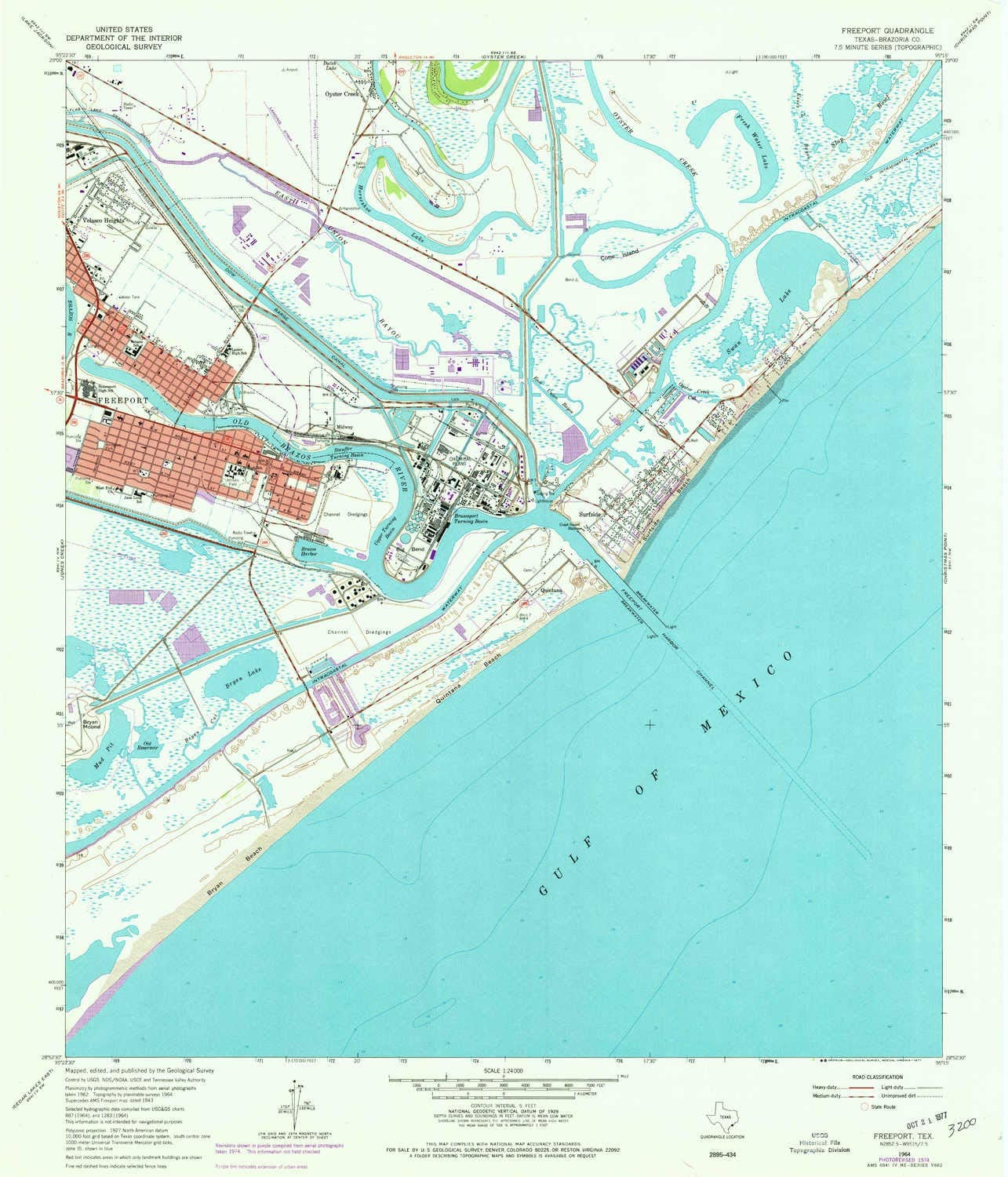 Amazon Com Yellowmaps Freeport Tx Topo Map 1 24000 Scale 7 5 X