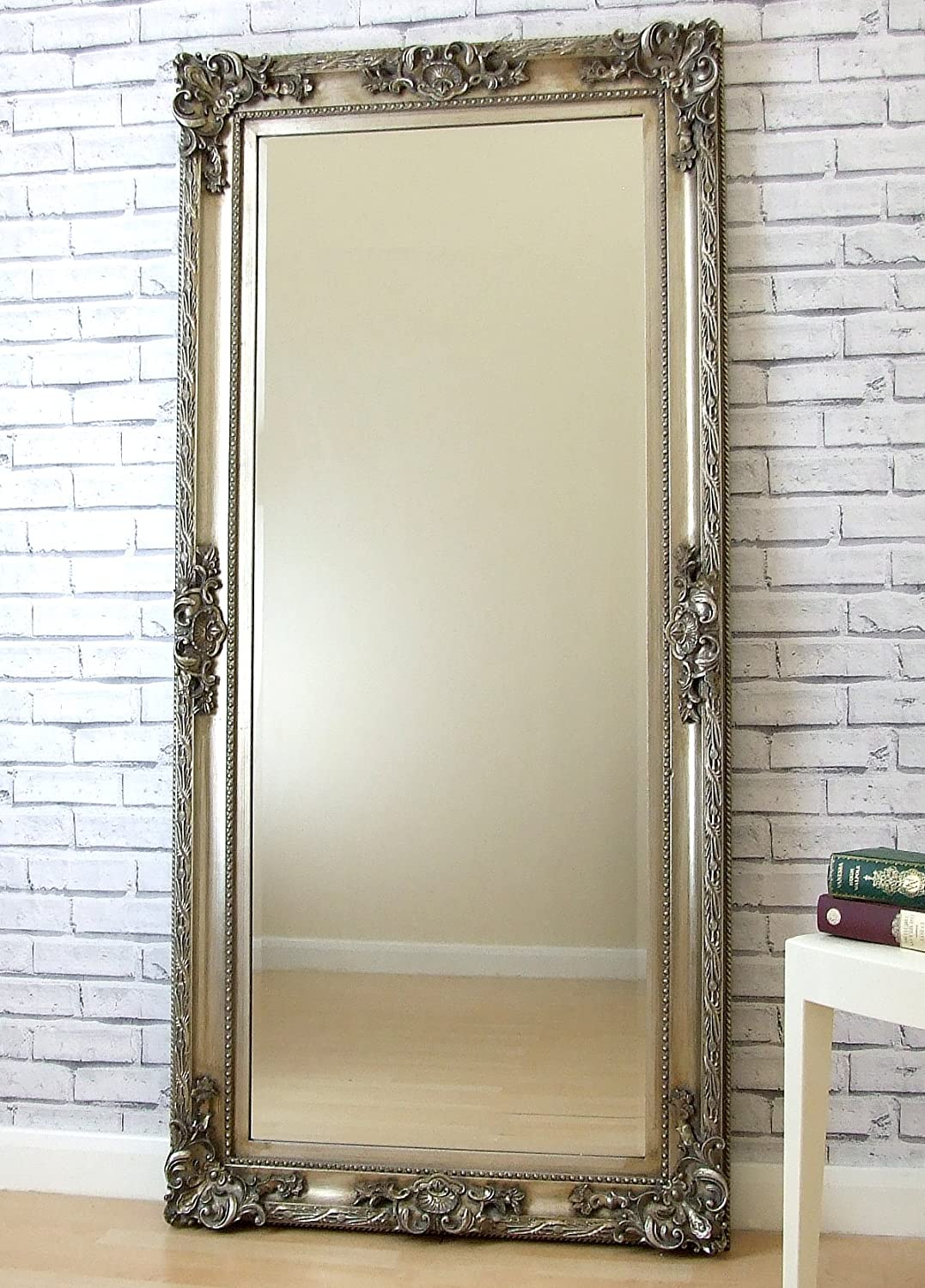 Silver Floor Mirror Floor Length Mirror With Storage Home Design ...