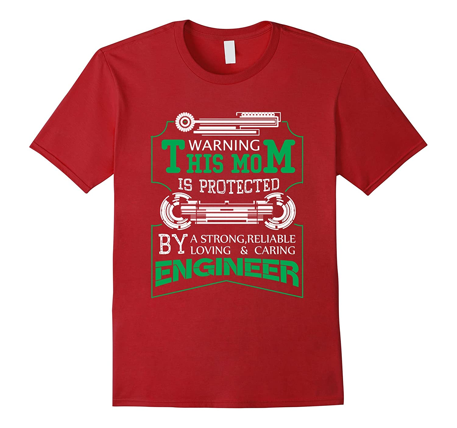 Mother of Caring Engineer Funny T shirts for Women Love Son-TH