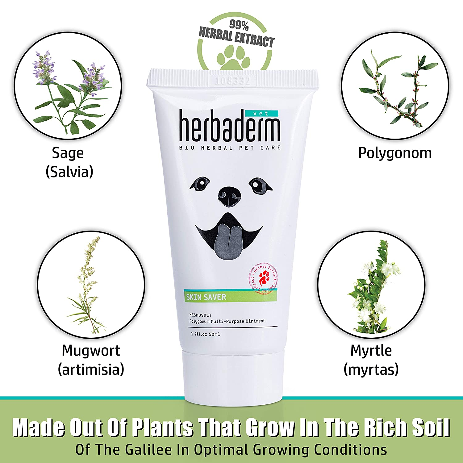 Amazon.com: Herbaderm Perro Paw Balm - Snout Soother for ...