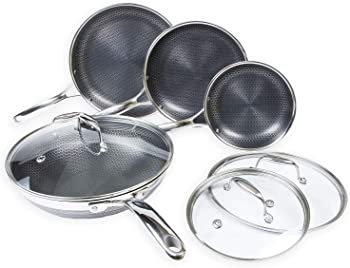 HexClad Hybrid Nonstick 7-Piece Cookware Set