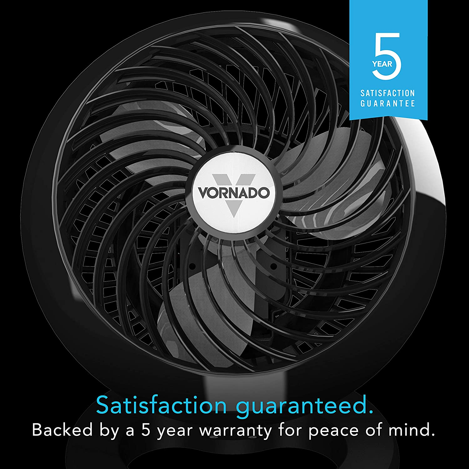 Vornado 460 Small Whole Room Air Circulator Fan with 3 Speeds, Black: Home & Kitchen