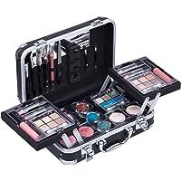 Duer Lika Portable Professional Mixed Beauty Makeup Kits Cosmetic Case Set Matte Shimmer Eyeshadow Palette Blushes Lip…