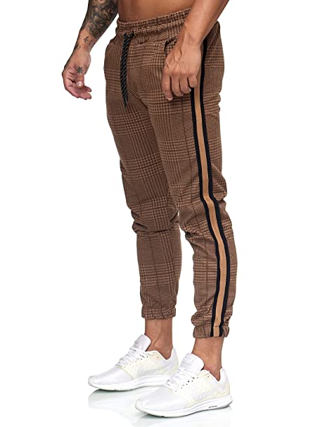 OneRedox Herren   Jogginghose   Trainingshose   Sport Fitness   Gym   Training   Slim Fit   Sweatpants Streifen   Jogging Hose   Stripe Pants   Modell