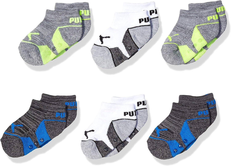 PUMA baby-boys Infant Boys 6 Pack No Show Socks Tennis Socks