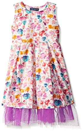 1546bd85d327e Andy & Evan New Little Girls Toddler Floral Orange Short Sleeve Fashion Party  Dress For Kids