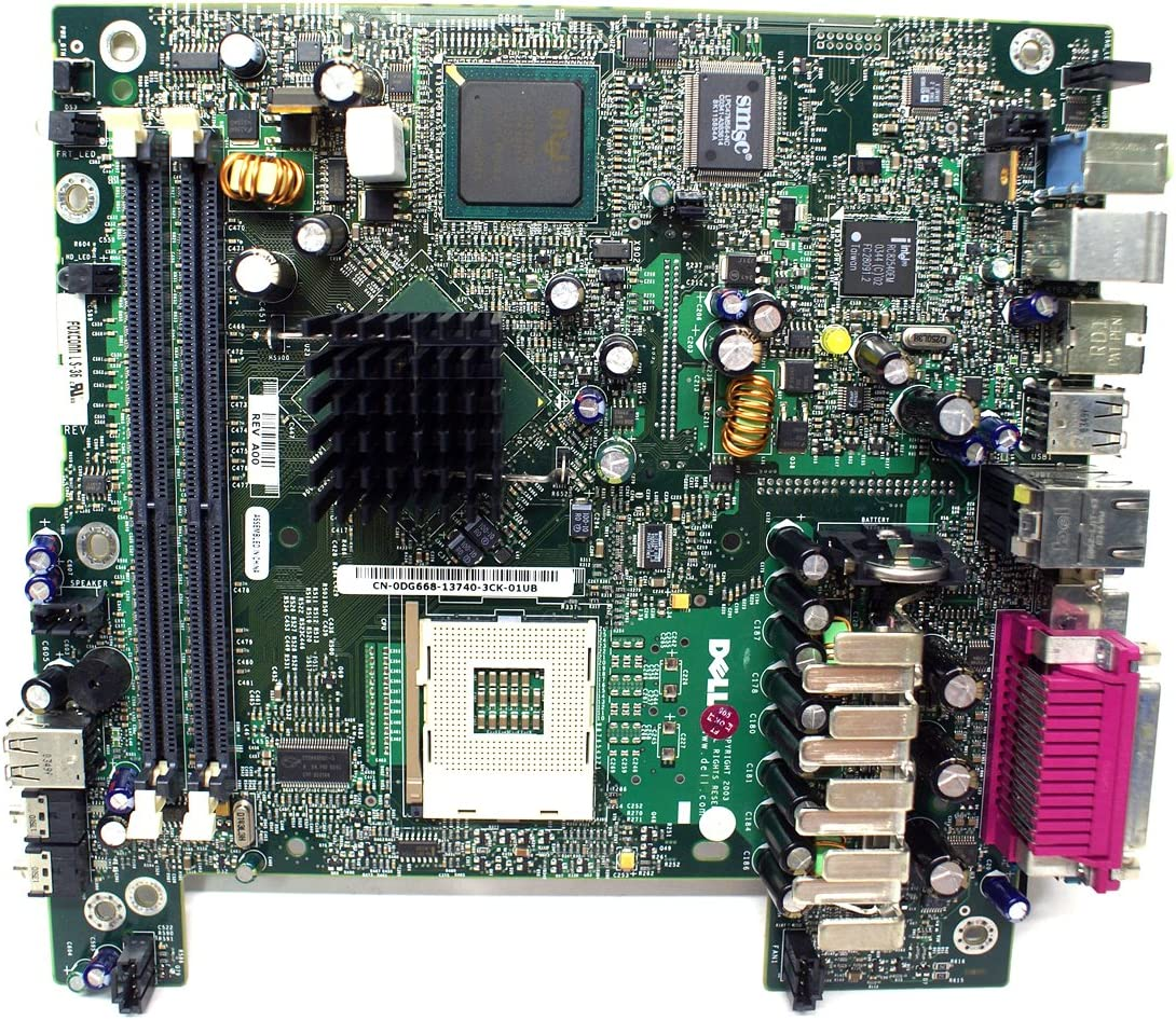 Genuine DG668 FG315 Dell Optiplex SX270 Ultra Small Form Factor USFF Motherboard Compatible Part Numbers: DG668 FG315