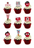 30 Stand Up Red Nose Day Comic Relief Fundraising Premium Edible Wafer Paper Cake Toppers - Perfect for Fundraising