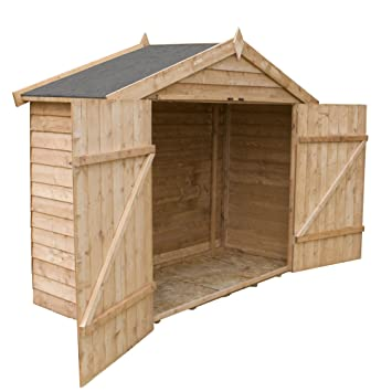 X Waltons Overlap Apex Wooden Bike Shed Amazon Co Uk Garden