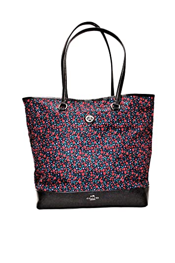 0cd33f06611f Coach Ranch Floral Nylon and Leather Tote Purse -  F59435  Handbags ...