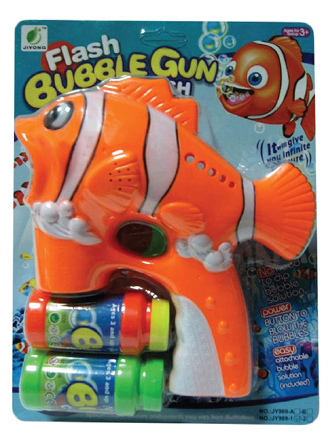 Amazon.com: Train Bubble Gun Blaster Toy with LED Lights, Extra Bottle Refill, and 3x AA Batteries Included (Colors Vary): Arts, Crafts & Sewing