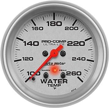 AutoMeter 4454 Ultra-Lite Electric Water Temperature Gauge
