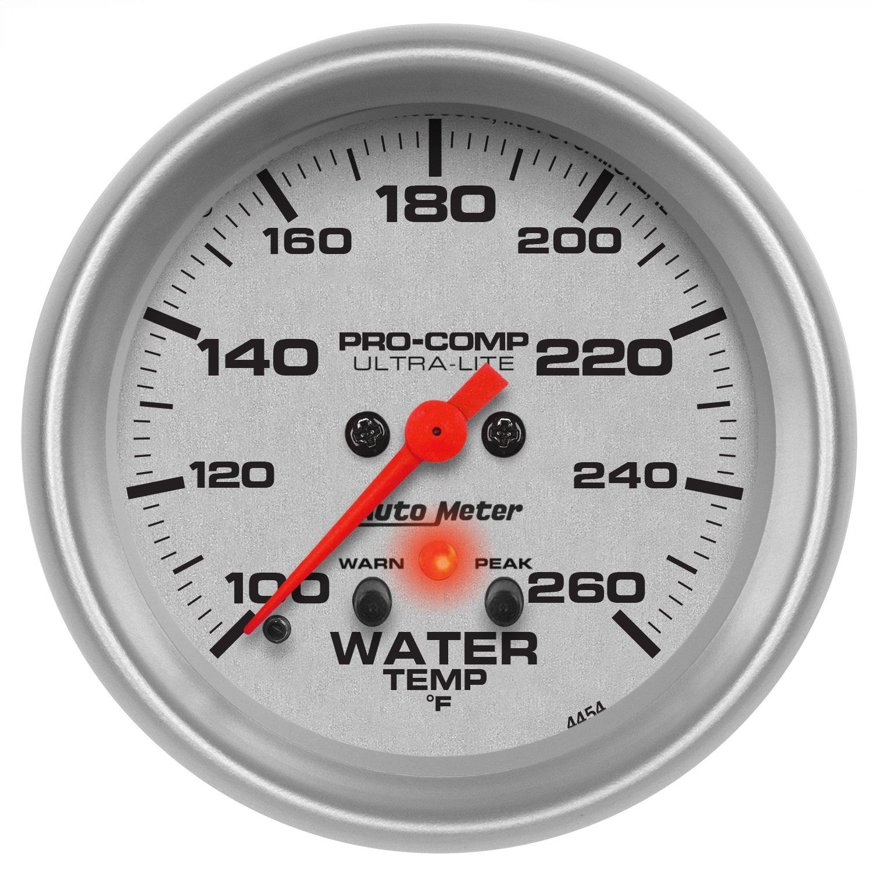 Auto Meter 4454 Ultra-Lite Electric Water Temperature Gauge