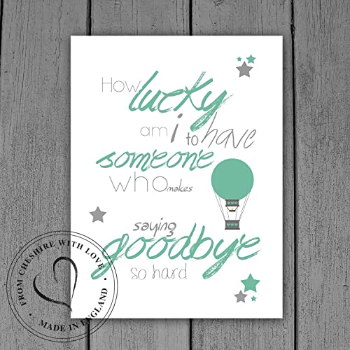 Winnie The Pooh Quote Print How Lucky Am I To Have Someone Who