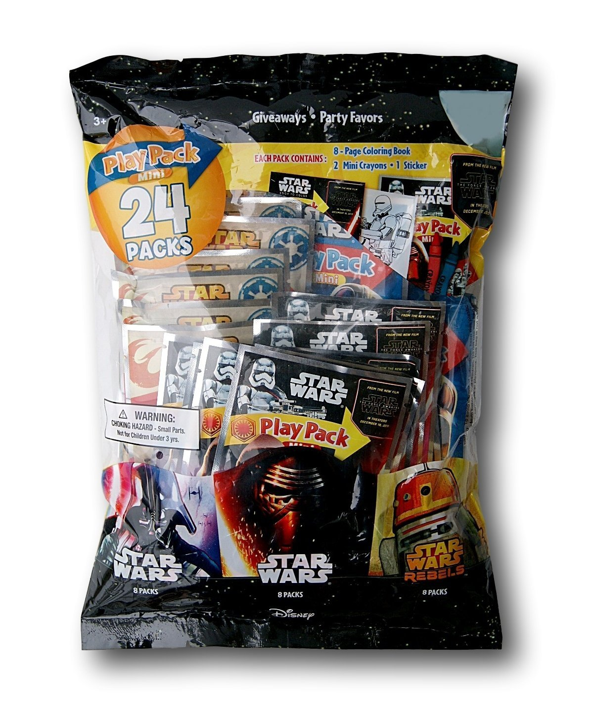 Party Favor Play Pack - Star Wars - 24 Mini Packs (2 Pack)