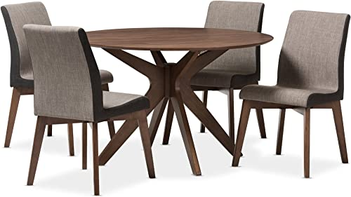 Baxton Studio Kimberly 5 Piece Dining Set