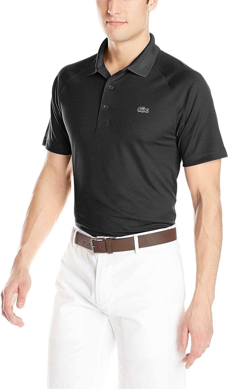 Lacoste Mens Sport Short Ultra Dry Raglan Sleeve Polo Shirt at  Men's Clothing store