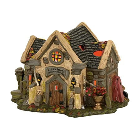 Department 56 Snow Village Halloween The Haunted Cemetry Shed Lit House 4056701