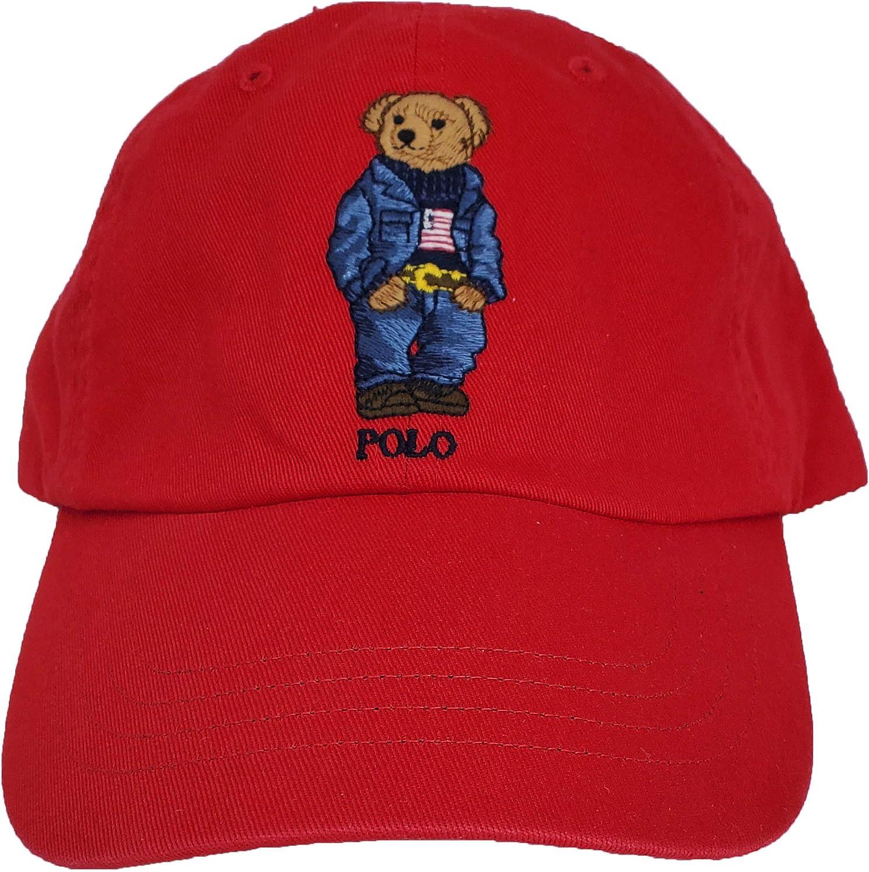 Polo Ralph Lauren - Gorra ajustable de oso de peluche para hombre ...