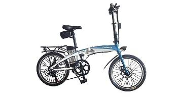 Helliot Bikes by 02 Bicicleta Eléctrica Plegable, Adultos Unisex, Blanca/Azul, M-L