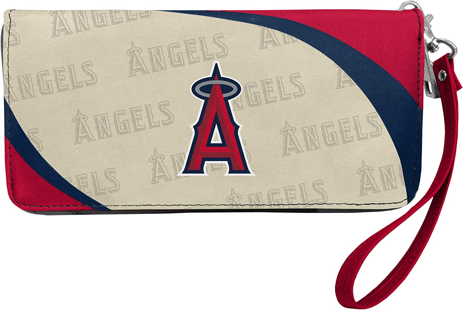 Team Colors Littlearth MLB Los Angeles Angels Womens Wallet Curve Organizer Stylelos Angeles Angels Wallet Curve Organizer Style Team Colors One Size One Size