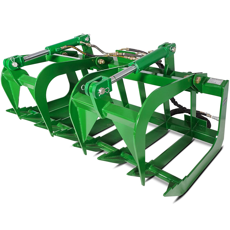 Titan Attachments 60' John Deere Root Grapple Bucket Tractor Loader
