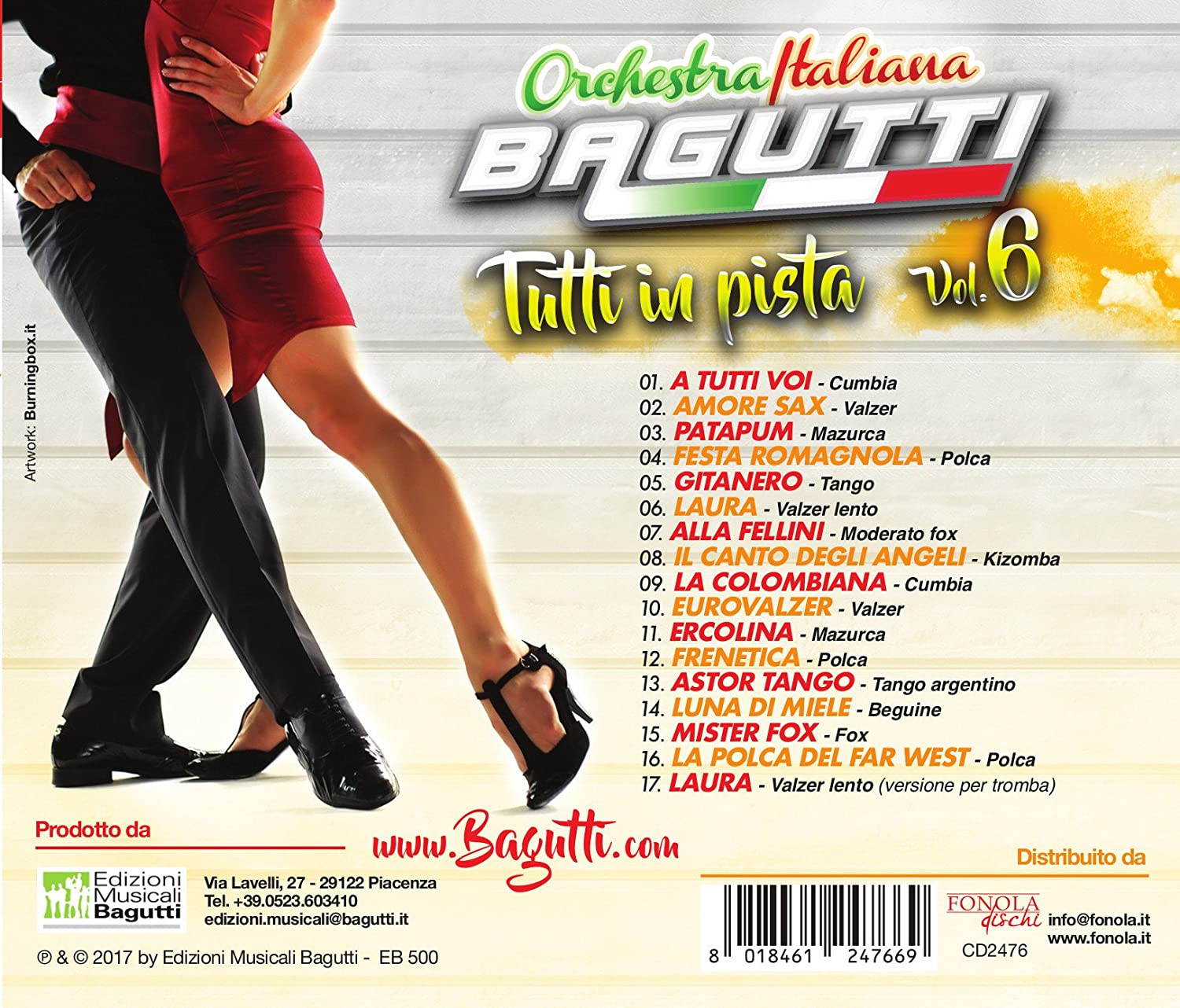 Orchestra Bagutti - Tutti in Pista Vol.6 - Amazon.com Music