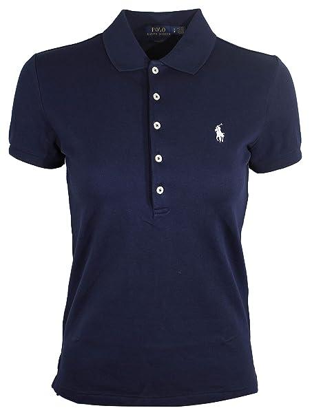 Lauren Ralph 5 Fit Shirt Mesh Polo Womens Slim Button yw0O8nvmN