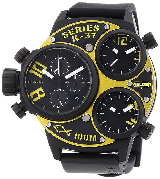 Welder 6501 K37 6501 - Reloj cronógrafo de cuarzo unisex, correa de goma color negro