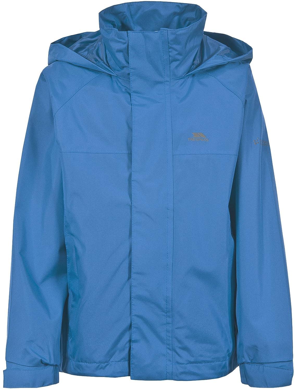 Trespass Nabro Kids Waterproof School Raincoat Boys Girls Jacket with Hood
