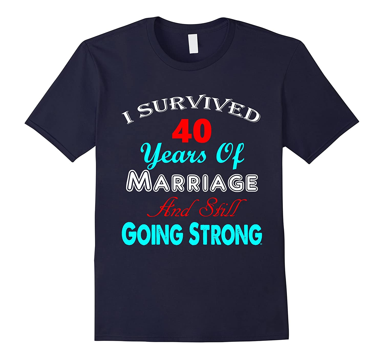 40th Wedding Anniversary Shirt Marriage Mother Father Couple-TD