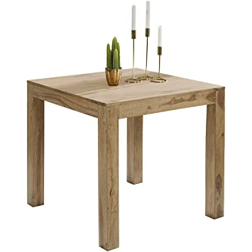 WOHNLING Esstisch Massivholz Akazie 80 X 80 X 76 Cm Esszimmer Tisch Design  Küchentisch Modern