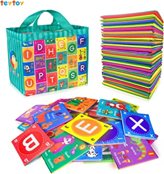 Toddler Alphabet Colorful Cloth Book Abc  Educational Toys Baby Learning Y