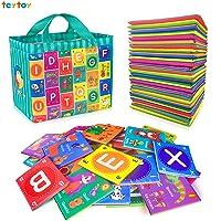teytoy Baby Soft Alphabet Cards Toys, 26Pcs ABC Alphabet Flash Cards Early Learning...