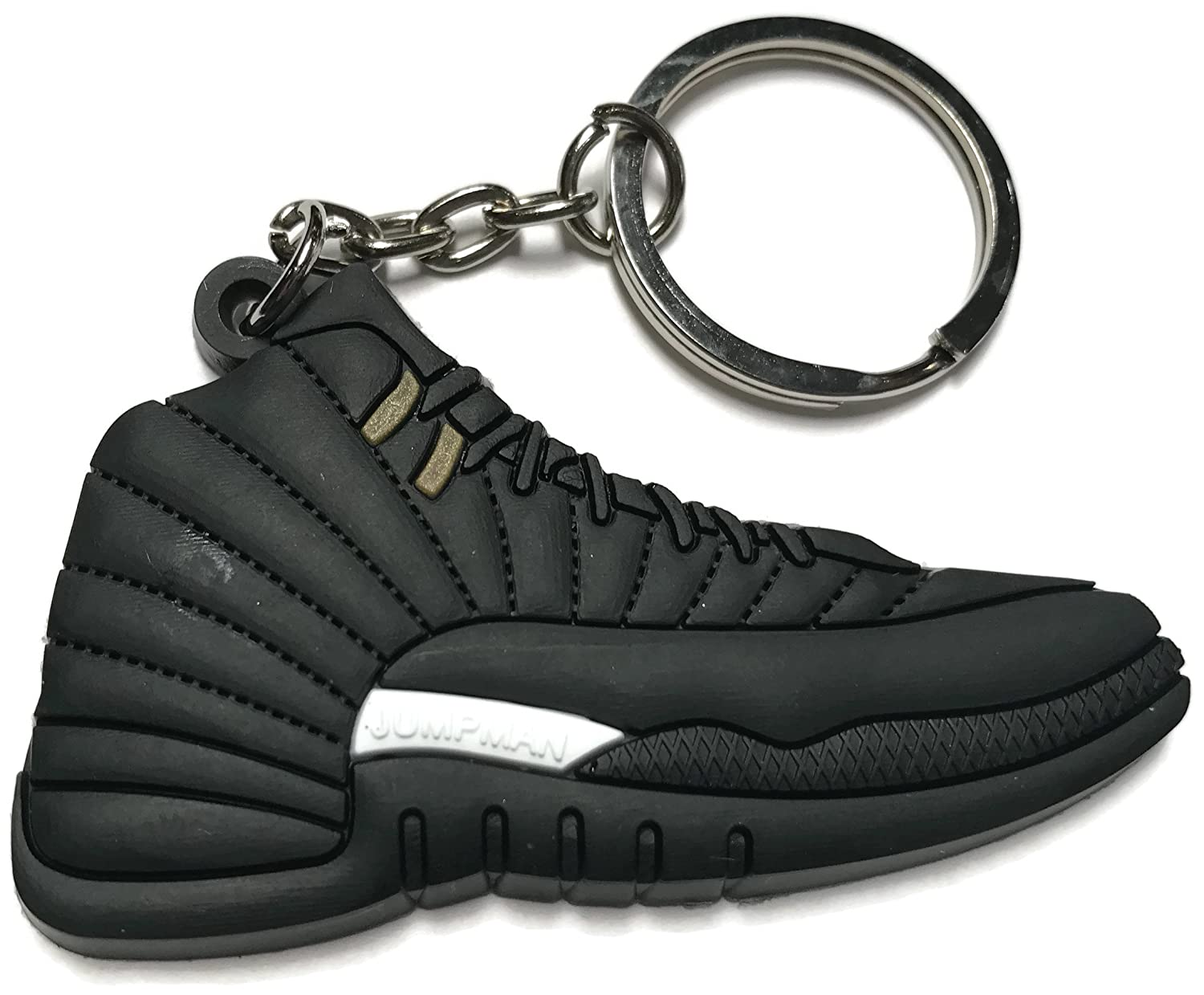 super popular 0b0bc b3123 Air Jordan Retro 12 Black and White Shoe Keychain Collectable