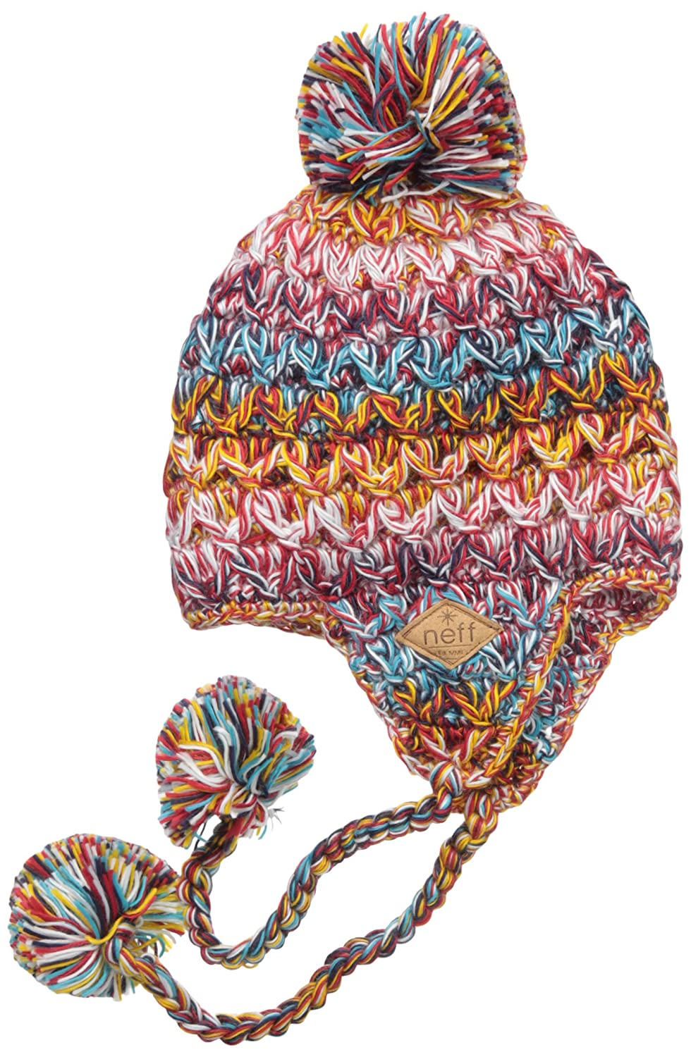 83603b9486b NEFF Women s Amy Cable-Knit Earflap Beanie with Pom