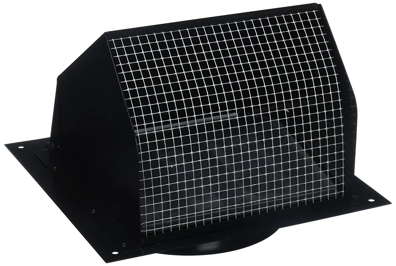 "Nutone Broan 843BL Wall Cap Black for 6"" round duct"
