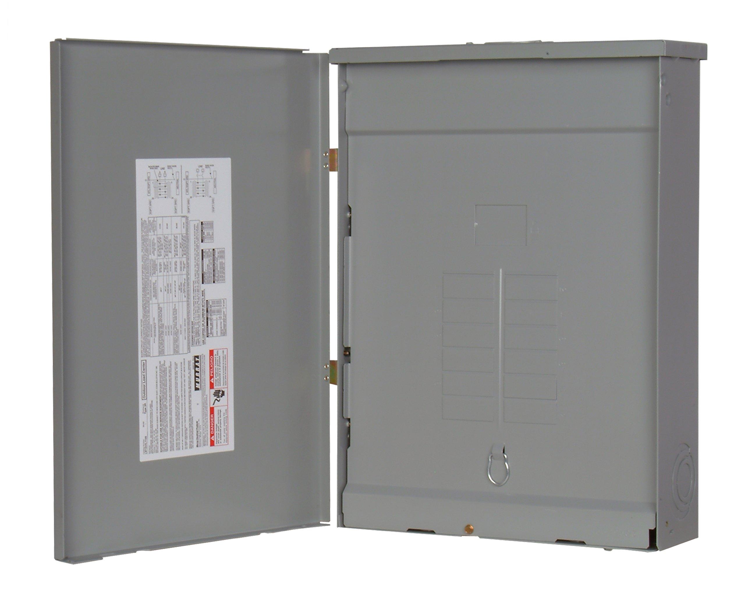 Murray LW1224L1125 Load Center, 12 Space, 24 Circuit, Main Lug, 125A