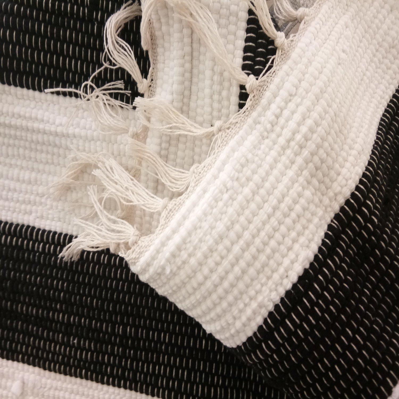 Black//White Ukeler 2-Pack Retro Farmhouse Tartan Checkered Throw Pillow Covers Buffalo Check Plaid Cotton Linen Decorative Cushion Cover Throw Pillowcase for Sofa//Car//Bed//Chair 17.7x17.7