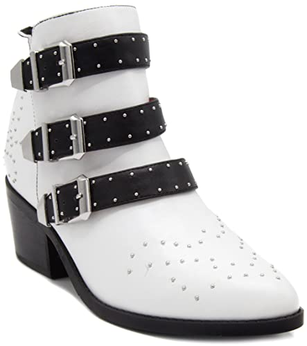 Women's Stellar Bootie Ankle Boot With Triple Buckle