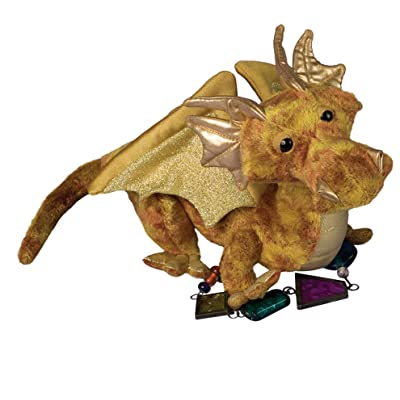 Douglas Topaz Golden Dragon Plush Stuffed Animal: Toys & Games