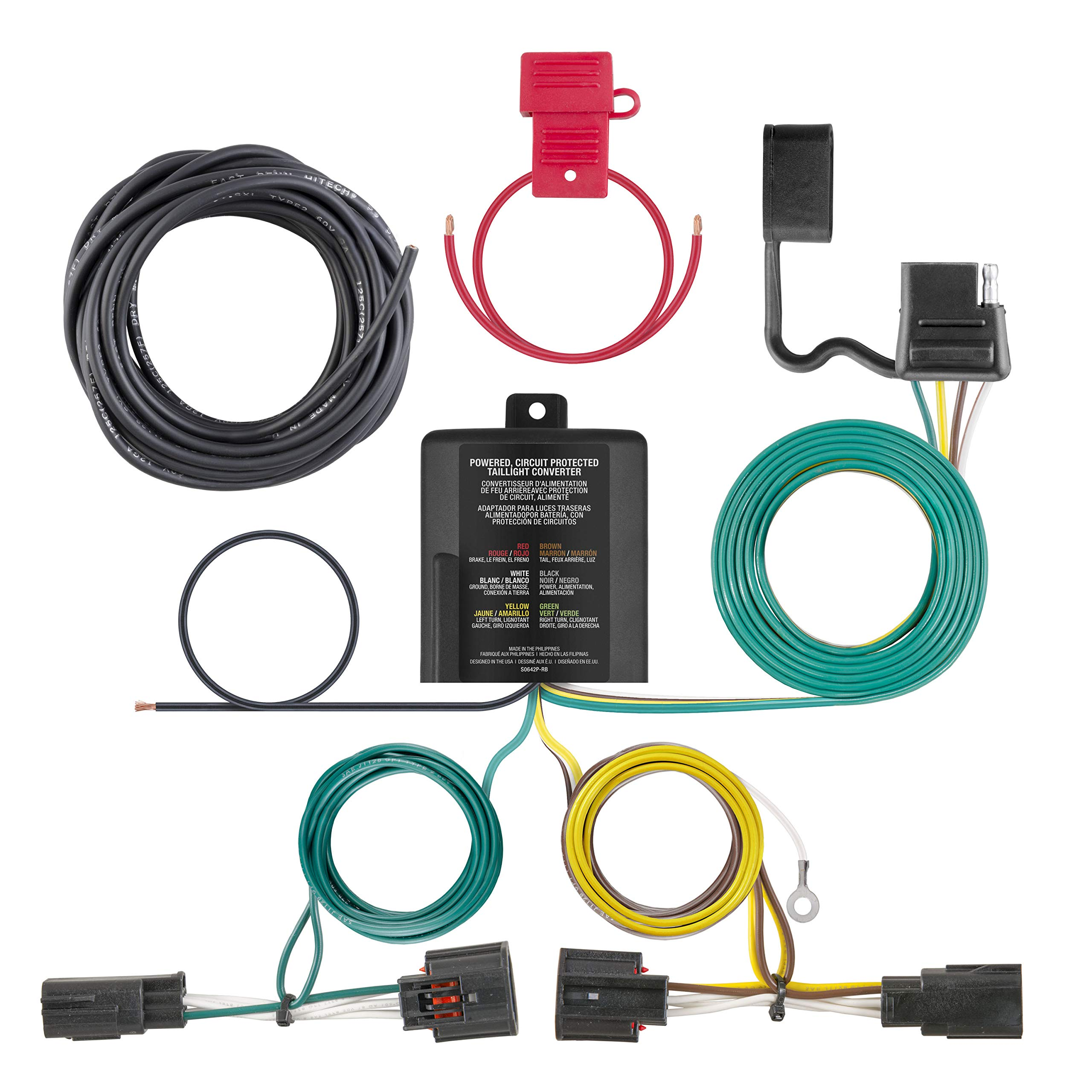 CURT 56331 Vehicle-Side Custom 4-Pin Trailer Wiring Harness for Select Chrysler Town and Country, Dodge Caravan, Grand Caravan by CURT (Image #2)