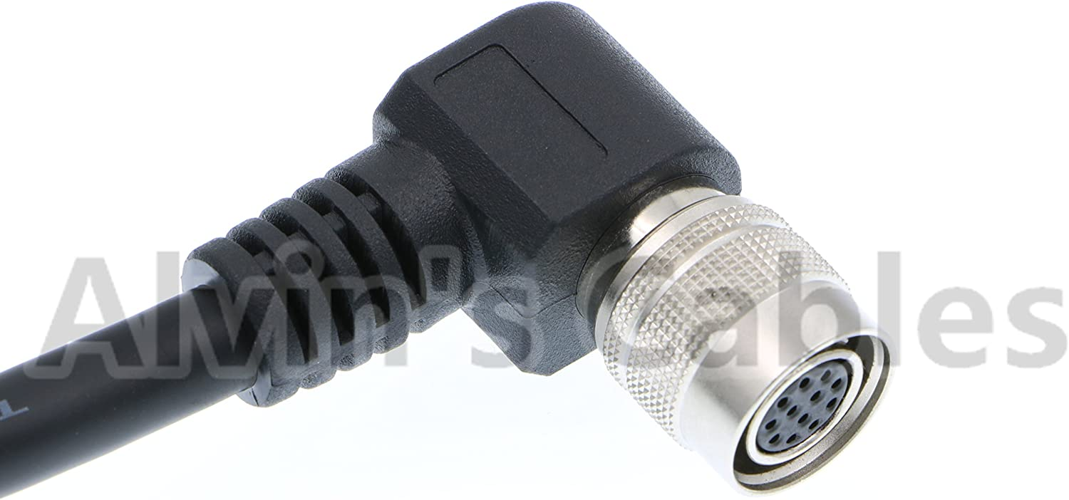 12 Pin Hirose Right Angle Female to Open end Shield Coaxial Cable for Sony Basler Cameras