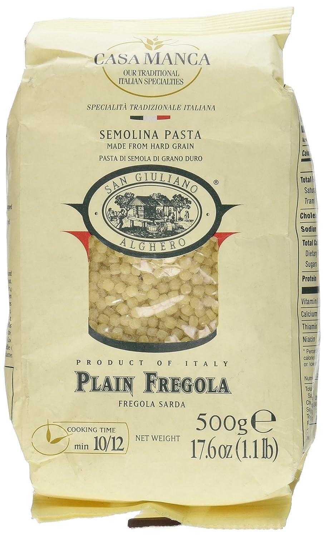 San Giuliano Casa Manca Fregola Sarda Semolina Pasta 17.6 Ounce