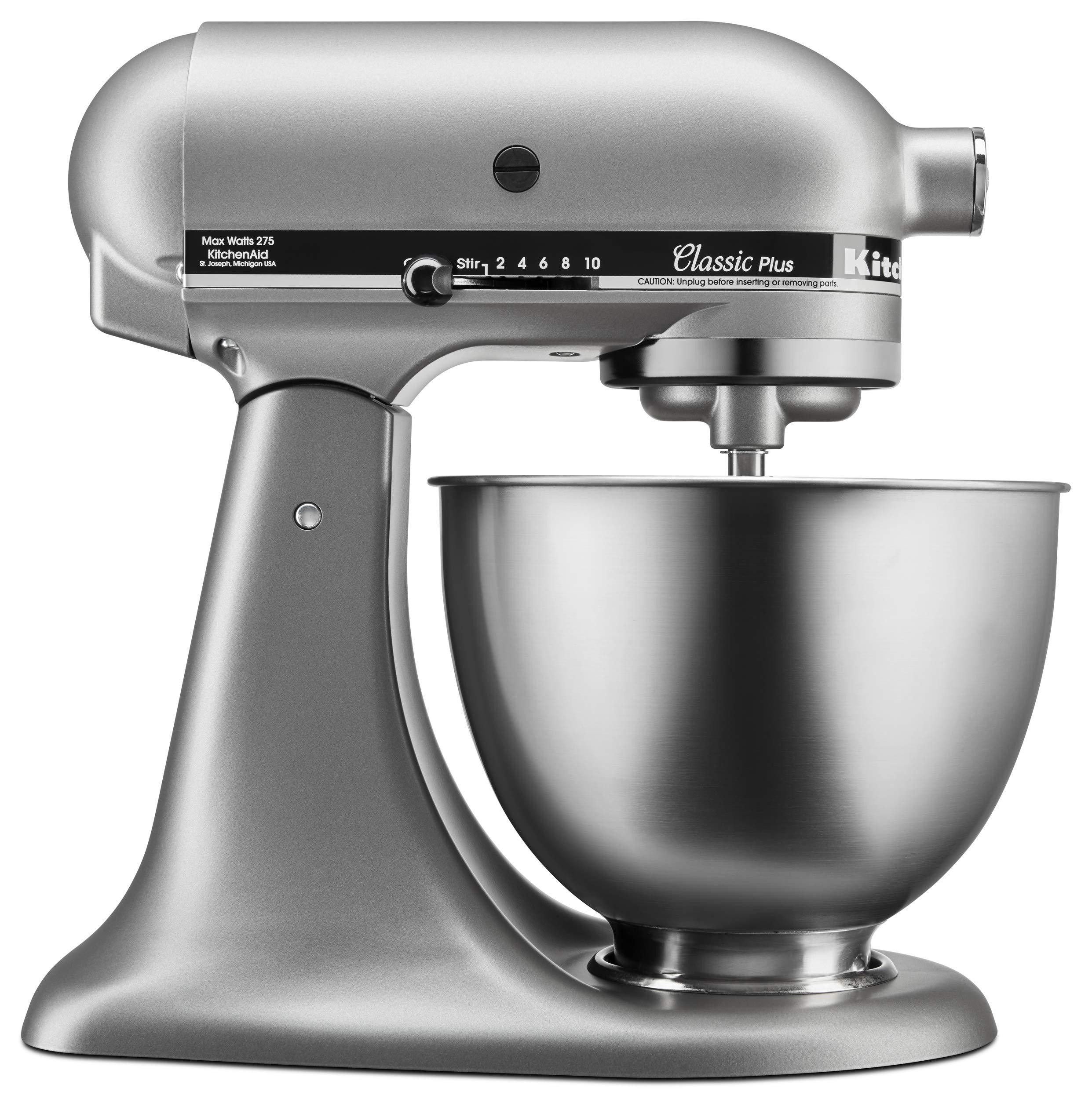 KitchenAid KSM75SL Classic Plus 4.5-Qt. Tilt-Head Stand Mixer, Silver by KitchenAid