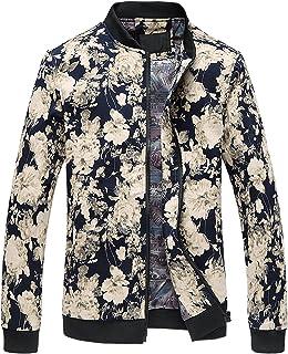014701759b81 Allegra K Men Stand Collar Leopard Zip Up Plush Jacket at Amazon ...