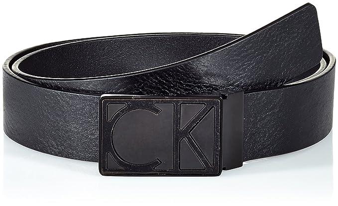 acheter populaire 87124 9fe75 Calvin Klein High Contrast Adj Plaque Belt 3.5cm, Ceinture ...