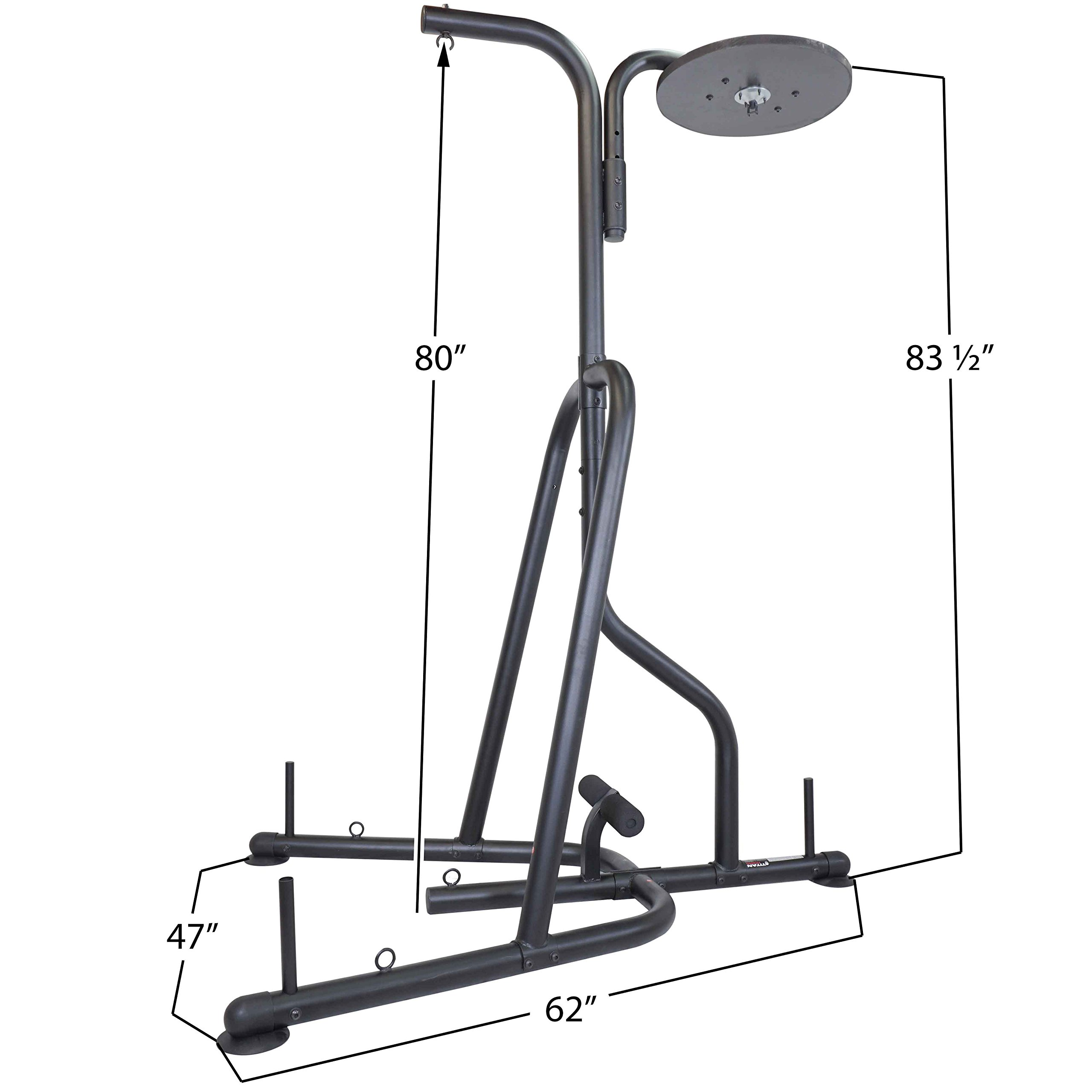 Titan Dual Station Boxing Stand For Speed & Heavy Bag MMA Kick Punching Training by Titan Fitness (Image #2)