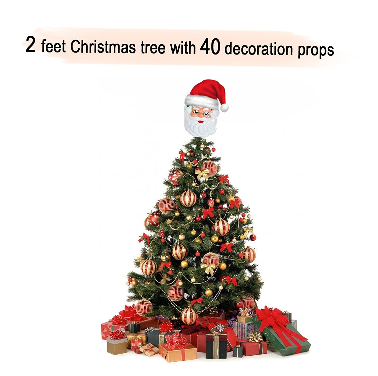 Buy Tiedribbons Xmaschristmas Tree 2 Feet With 40 Tree Hanging