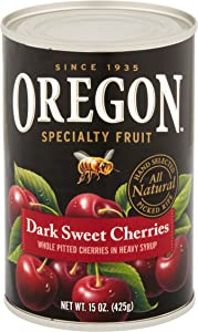 Oregon Fruit Products Pitted Dark Sweet Cherries in Heavy Syrup -- 15 oz (Pack of 2)
